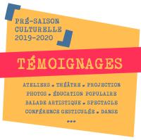 Programme du cycle culturel Témoignages